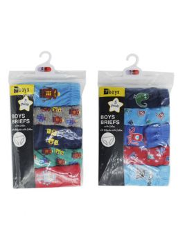 BOYS 5 PACK BRIEFS