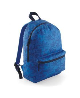 BagBase Graphic Backpack-Indigo Palm