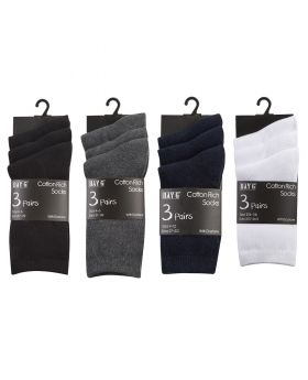 Cotton Rich Plain School Socks