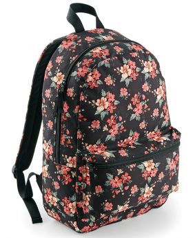 Bagbase Graphic Backpack-Faded Foral