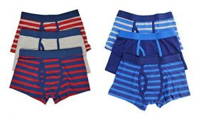 BOYS 3 IN 1  STRIPED TRUNKS WITH KEYHOLE