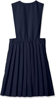 V-neck Pleated Pinafore