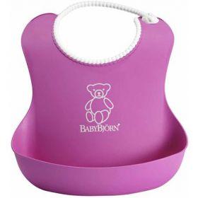Bjorn Plastic Baby Bib - Purple