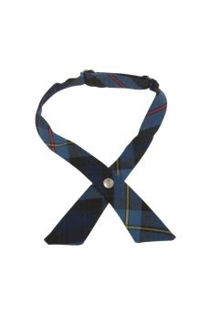 Blue Red Plaid Cross Tie