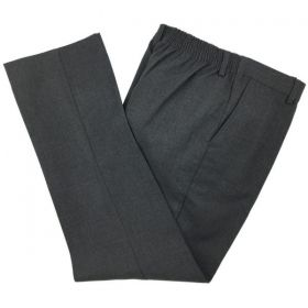 Boys Elastic Back School Trousers