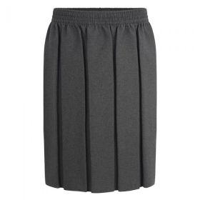 Grey Boxed Pleat Skirt