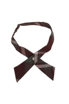 Burgundy Plaid Cross Tie