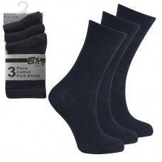 Cotton-Rich-Plain-School-Socks