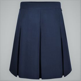 Stitched Down Boxed Pleat Skirt